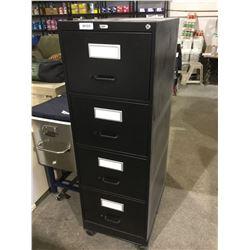 Black 4-Drawer Vertical File Cabinet