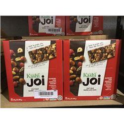 Kashi Joi Raspberry Dark Chocolate Hazelnut Bars (12 x 40g) Lot of 2