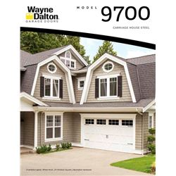 NEW Wayne Dalton 9700 Garage Door Panels- 18 ft x 8 ft CHARLESTON white with lites