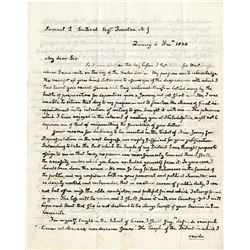 "Adams, John Quincy. Extraordinary autograph letter signed (""J.Q. Adams""), 4 pages (8 x 10 in.; 203 x"