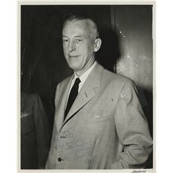 "[Alcoholics Anonymous]. Wilson, William Griffith ""Bill W."" Gelatin silver photograph signed ""Bill""."