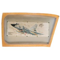 [Aviation] Convair F-106 Delta Dart canopy signed by world speed record holder Col. Joseph Rogers.