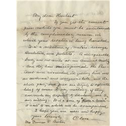 Barton, Clara. Archive including: (9) autograph letters signed.