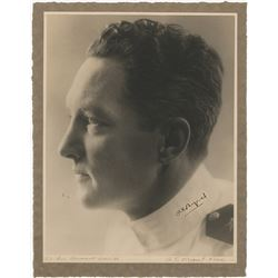 Byrd, Richard Evelyn. Large format photograph signed.