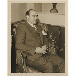 "Capone, Alphonse Gabriel ""Al"". Photograph signed ""Al Capone""."