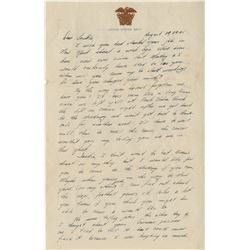 Carter, Jimmy. Collection of (4) autograph letters and (1) typed letter signed (ca. 1945).