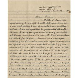 [Civil War] Hungerford, Charles. Exceptional Civil War-date autograph letter signed.