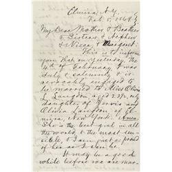Clemens, Samuel L. Autograph letter signed, New York, 5 February 1869.