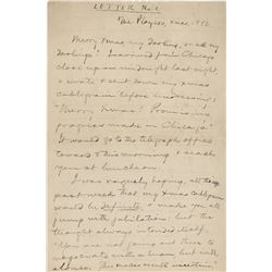 "Clemens, Samuel L. ""Mark Twain"". Autograph letter signed, dated December 25, 1893"