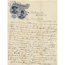 """Cody, William F. """"Buffalo Bill"""". Trio of autograph letters signed (ca. 1896)."""