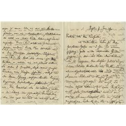 D'Albert, Eugen. Autograph letter signed, 7 January, 1894.