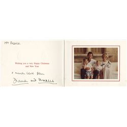 Charles and Diana Royal Christmas Card Signed.