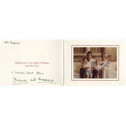 Charles and Diana Royal Christmas Card Signed.