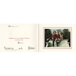 Princess Diana & Prince Charles. Royal Christmas card signed.