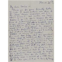 Duke, Vernon. Collection of (5) autograph letters signed.