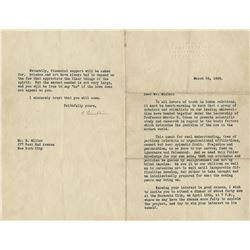 Albert Einstein typed letter signed, 26 March 1936, discussing prejudice and persecution of the Jews