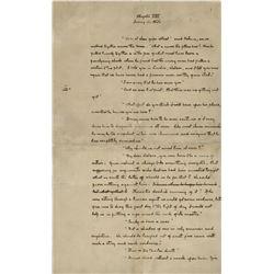 Doyle, Arthur Conan, Sir. Rare original handwritten manuscript from The Hound of the Baskervilles.