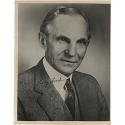 Ford, Henry. Signed photograph.