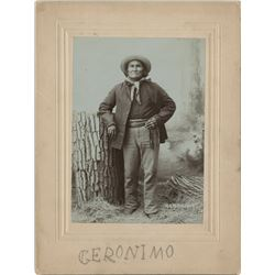Geronimo. Signed cabinet card photograph.