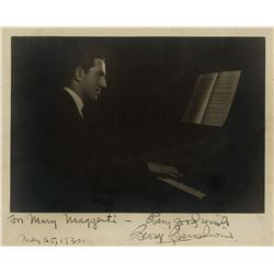 Gershwin, George. Signed photograph, May 25, 1930