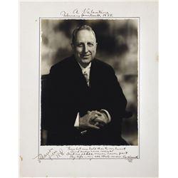 Hearst, William Randolph. Signed photograph.