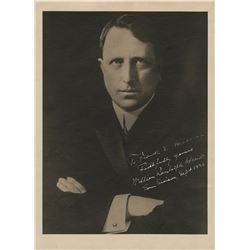 Hearst, William Randolph. Signed oversize photograph. Sept. 1926.