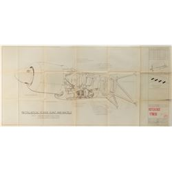 "[Hughes, Howard]. Hughes HK-1 (H-4) ""Spruce Goose"" vintage blueprints with Pratt & Whitney Manual."