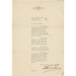 Ince, Thomas. Collection of (3) rare typed letters signed (ca. 1920).
