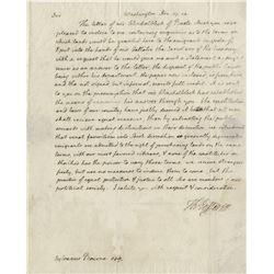 "Jefferson, Thomas. Autograph letter signed as President, ""Washington"", 17 December 1804."