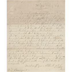 Lee, Robert E. Extraordinary Civil War-date autograph letter signed, 2 August 1864.