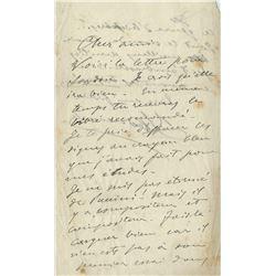 Leoncavallo, Ruggero. Autograph letter signed.