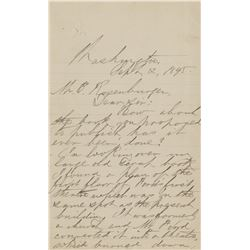 [Lincoln Assassination]. Sessford, Joseph S. Archive of (7) autograph letters signed (ca. 1894-95).