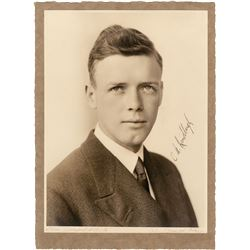 Lindbergh, Charles A. Signed photograph.