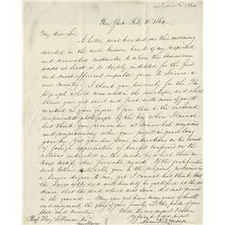 Morse, Samuel Finley Breese. Autograph letter signed, New York, 15 February 1864
