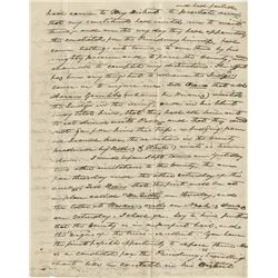 Polk, James K. Autograph letter signed twice, October 10, 1836