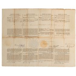 Van Buren, Martin. Four Language Ship's Papers signed as President, 6 July 1839.