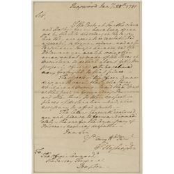 Washington, George. Aautograph letter signed as Commander of the Continental Army, 28 January 1781.