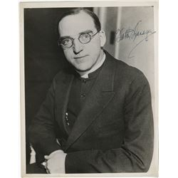 [Various] 20th Century visionaries. (6) signed photographs including Father Flanagan, and more.