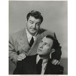 Abbott and Costello signed oversize photograph by Ray Jones.
