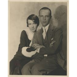 Fred Astaire signed photograph with his sister Adele by Hal Phyfe.