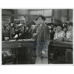 Frank Capra and James Stewart signed photograph from It's a Wonderful Life.
