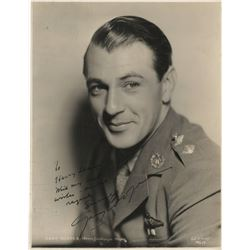 Gary Cooper signed photograph from Today We Live.