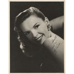 Judy Garland signed oversize photograph.