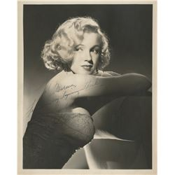 Marilyn Monroe signed photograph from All About Eve by Laszlo Willinger.