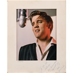 Elvis Presley TV Guide cover photograph inscribed and signed to Ed Sullivan.