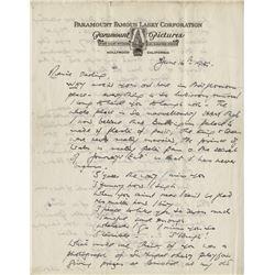 James Whale rare autograph letter signed.