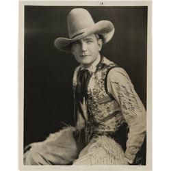 Western stars (7) photographs including Buck Jones, William Boyd, Gene Autrey, and Walter Huston.