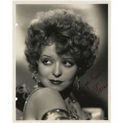 Iconic actresses (9) signed photographs including Clara Bow, Marlene Dietrich, and Rita Hayworth.