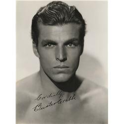 Handsome leading men (6) signed photographs featuring Henry Fonda, Charleton Heston, and more.