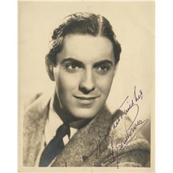 Leading men (5) signed photographs featuring James Cagney, Robert Mitchum, and Tyrone Power.